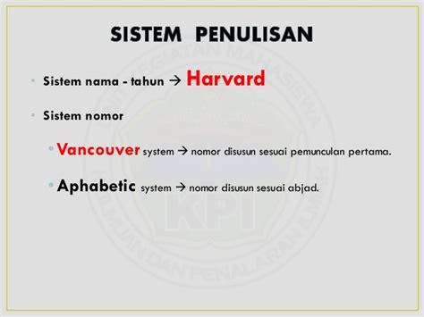 penulisan daftar pustaka jurnal sistem harvard penulisan daftar pustaka