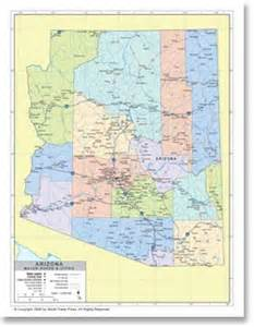 political map of arizona stockmapagency political map of arizona with county