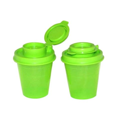 where can i buy a salt l tupperware personal green plastic salt pepper shaker set