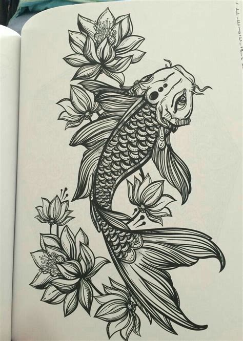 koi and lotus tattoo designs thigh tattoos thighs and