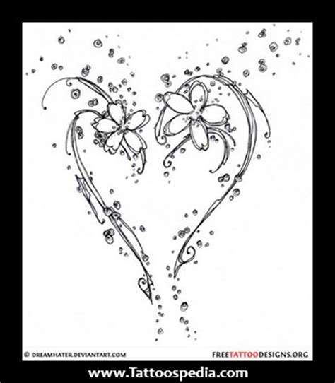 open heart design tattoo open design tattooshunt