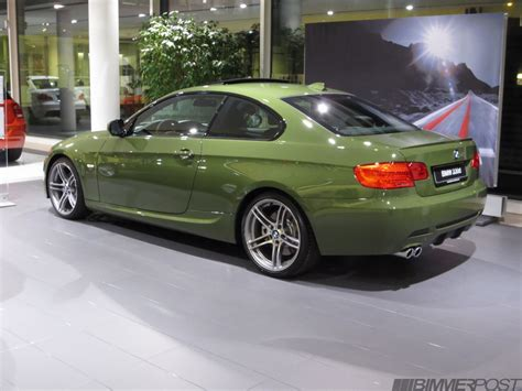 olive green bmw bmw individual e92 f30 and m3 phoenix yellow neon blue