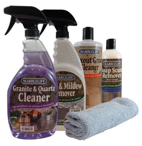 How To Clean Granite Countertops With Products clean kitchen bathroom care kit by marblelife