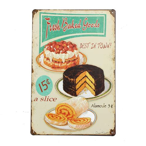 plaque metal cuisine plaque metal food 201 maill 233 e affiche mural deco publicitaire