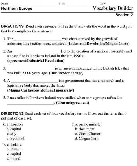 10 4 Changes Of State Section Review Answers by Assignments Mr Peinert S Social Studies Site