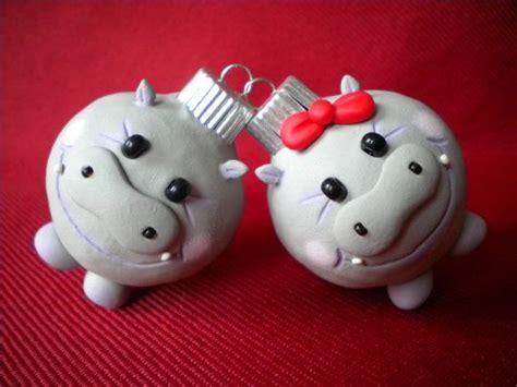 hippopotamus for christmas decoration photo holder