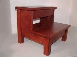 solid cherry wood two step stool bedside kitchen