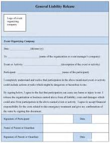 General Liability Release Form Template by General Liability Release Form Free Printable Documents