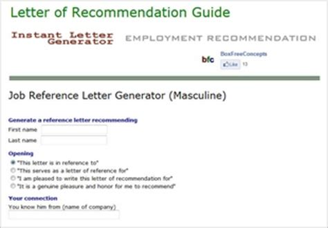 Letter Of Recommendation Generator 7 automatic letter generators for and profit the