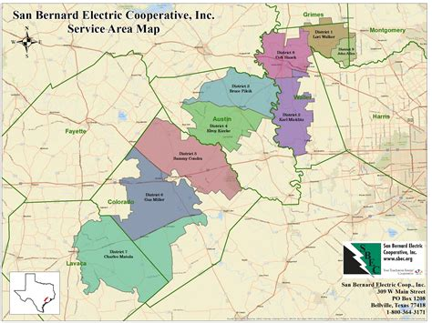 texas electric cooperatives map service territory map san bernard electric cooperative