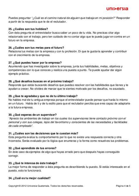 preguntas de entrevistas con respuestas entrevista laboral mejores respuestas 40 preguntas mas