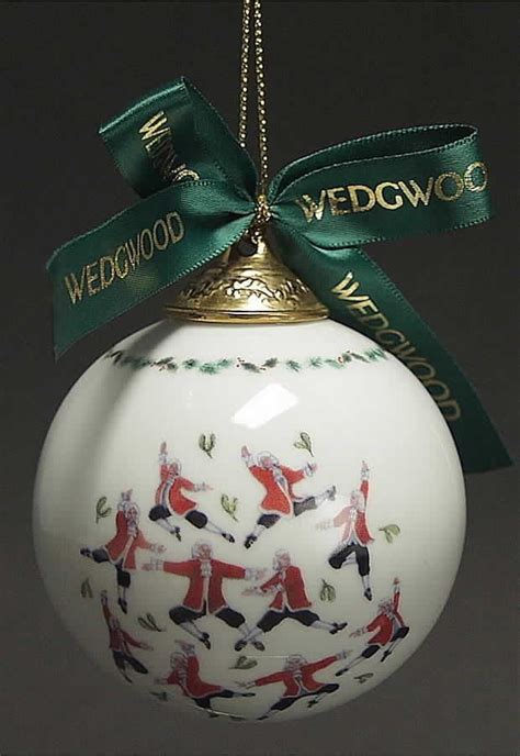 wedgwood twelve days of christmas ball ornament 10 lords a