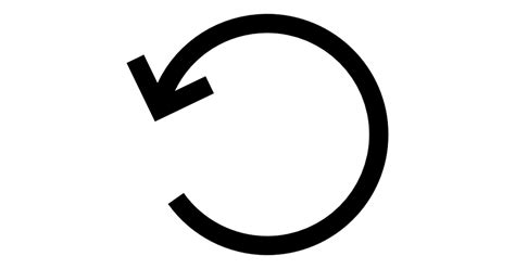 Top Home Plans by Rotate Left Circular Arrow Interface Symbol Free Arrows