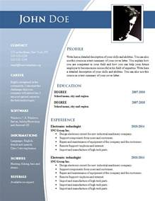 Templates For Resumes On Word Cv Templates For Word Doc 632 638 Freecvtemplate Org