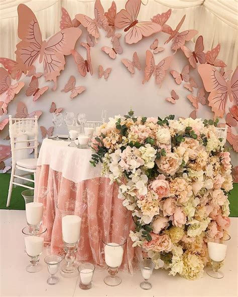 butterfly birthday theme   quinceanera decorations