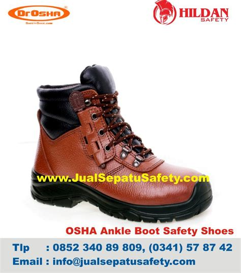 Safety Boot Cat Cokelat Hitam toko terbaik sepatu safety dr osha malang jual safety