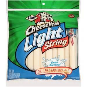 frigo light string cheese frigo cheese heads light string mozzarella cheese 24