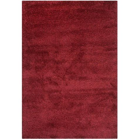 8 x 10 ft area rugs safavieh california shag maroon 8 ft x 10 ft area rug sg151 4242 8 the home depot