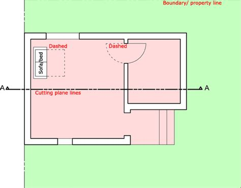 section cut line architectural drawing line weight types