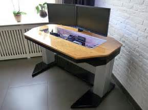 Custom Computer Desk Ideas Adjustable Custom Computer Desk Mod Fit For A True