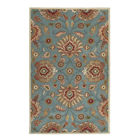 echelon area rug home decorators collection echelon blue 7 ft 6 in x 9 ft 6 in area rug 8784796310 the home