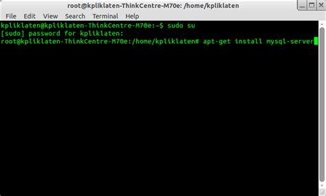 membuat database mysql di ubuntu membuat webserver di ubuntu 12 04 lts quot my adventure quot