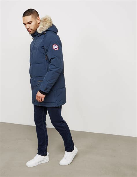 canada goose jacket emory parka lyst canada goose emory parka in blue for