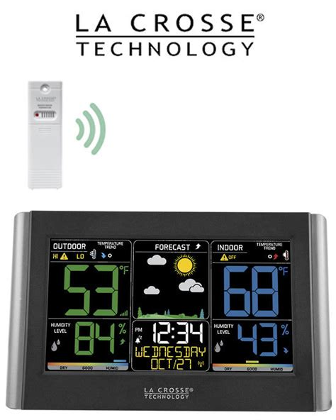 wireless color weather station c85845 wireless color weather station electronic world