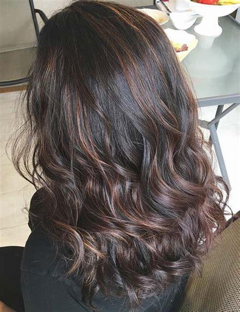 Auburn Highlights For Dark Brown Hair On African Americans | 30 best highlight ideas for dark brown hair frisuren und