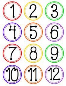 7 best images of printable number labels free printable