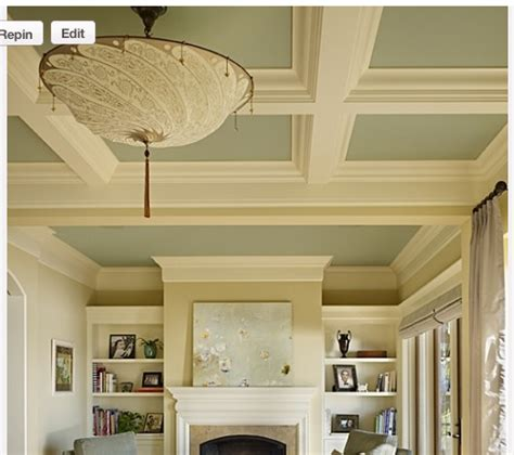 cost to paint a ceiling coffered ceilings living quarters on a dime