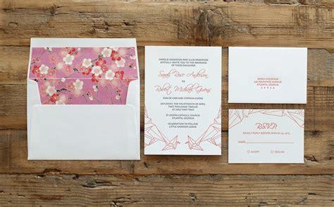 Origami Crane Wedding Invitations - letterpress wedding invitation paper crane origami