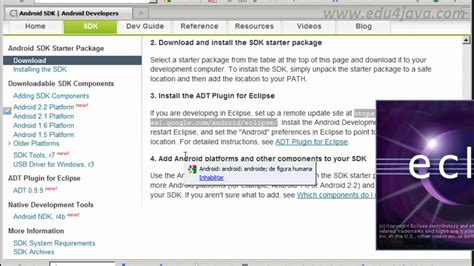 tutorial android hello world eclipse android 1 programming tutorial install sdk eclipse plugin