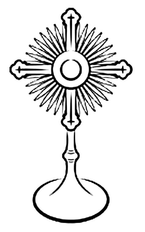 Monstrance Coloring Page Free Coloring Pages Of Monstrance