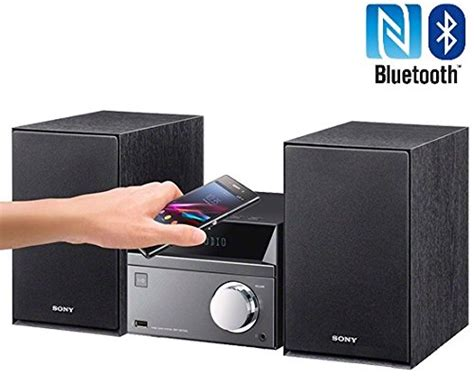 sony bluetooth micro home theater system with nfc mp3 cd