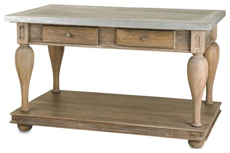 kitchen side table country balustrade antique walnut kitchen island