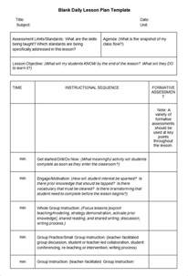 Blank Lesson Plan Template Word by Blank Lesson Plan Template 3 Free Word Documents