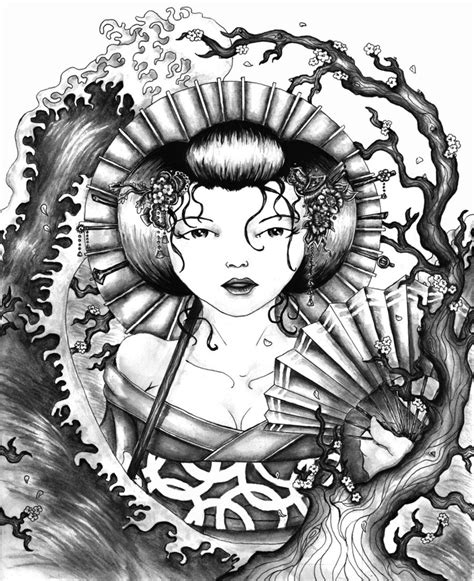 geisha fan tattoo designs 81 best geisha tattoos images on pinterest geisha