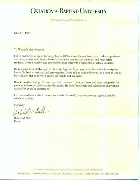 Dickinson College Letters Of Recommendation Obu Letters Of Recommendation