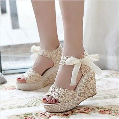 Beige Wedges For Wedding by 25 Best Ideas About Bridal Wedges On Wedding