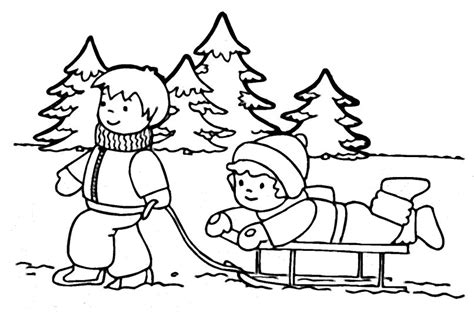 Winter Free Coloring Pages winter coloring pages 2018