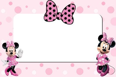 minnie mouse card templates inspired in minnie mouse free printable invitations