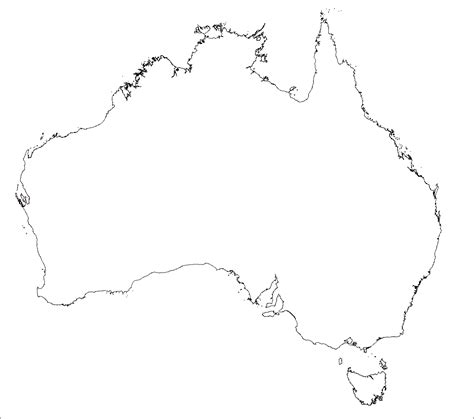 australia map outline australia map outline printable