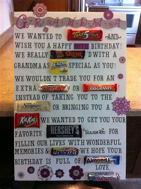 Poster Birthday Card Ideas Candy Bar Poster Idea For Aunt Rachel S 40th Birthday 80