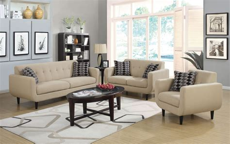 live room set stansall ivory living room set from coaster 505204