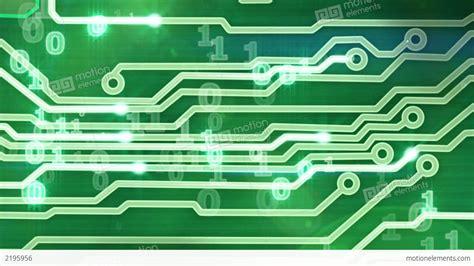 circuit board animation green circuit board providing signals 3d animation stock