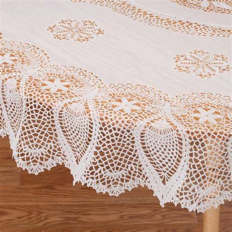 Dining Room Covers Vinyl Lace Tablecloth Vinyl Tablecloth Miles Kimball