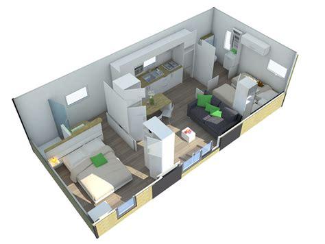 location résidence taos vip 2 ch. 4 pers. 37m² Bretagne CAMPING DE LA PISCINE Finistère