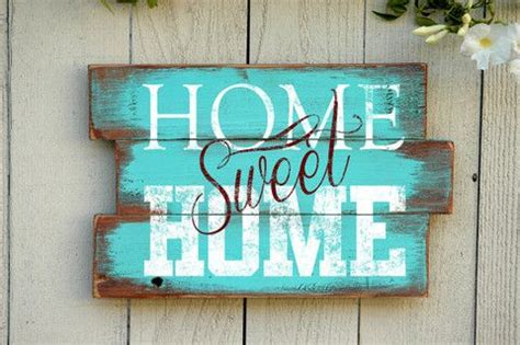 Handmade Sign - home sweet home wood pallet sign handmade rustic wood
