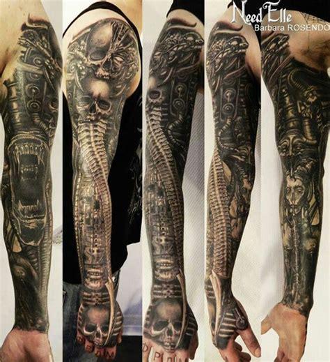 hr giger tattoo hr giger sleeve hr giger